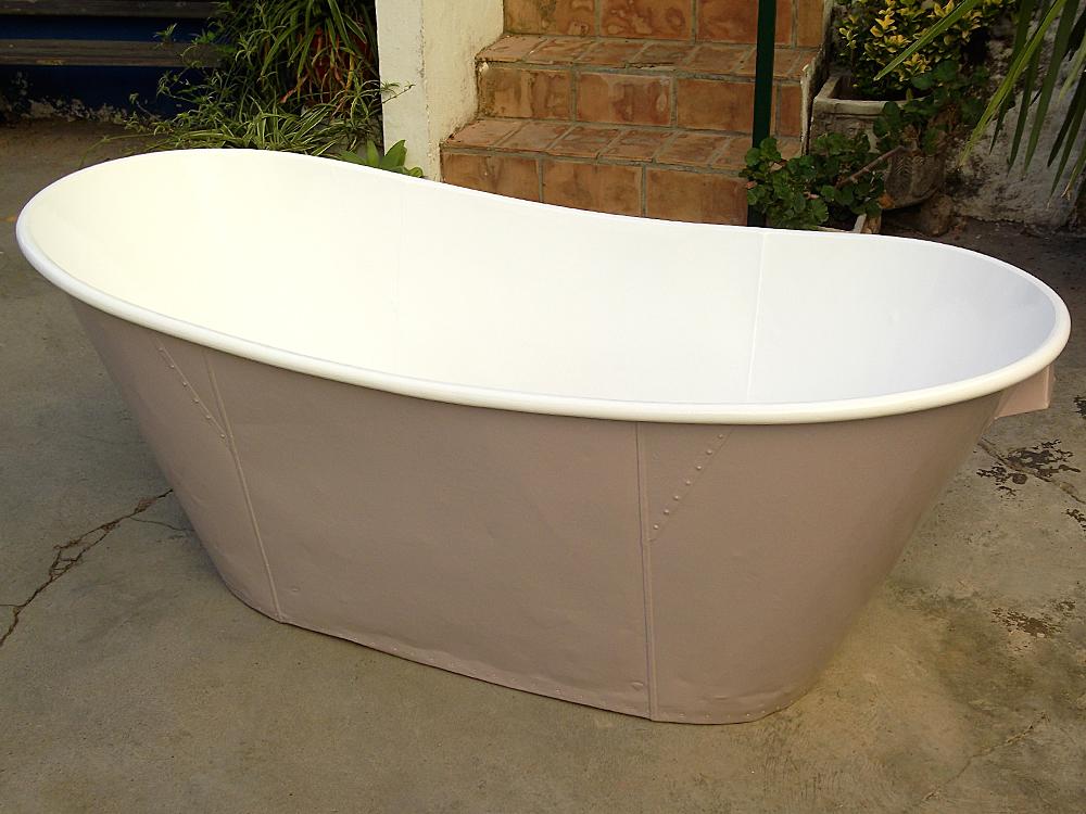 Bañera restaurada.