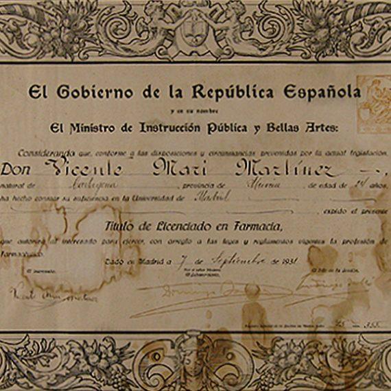 Título de la II República Española.