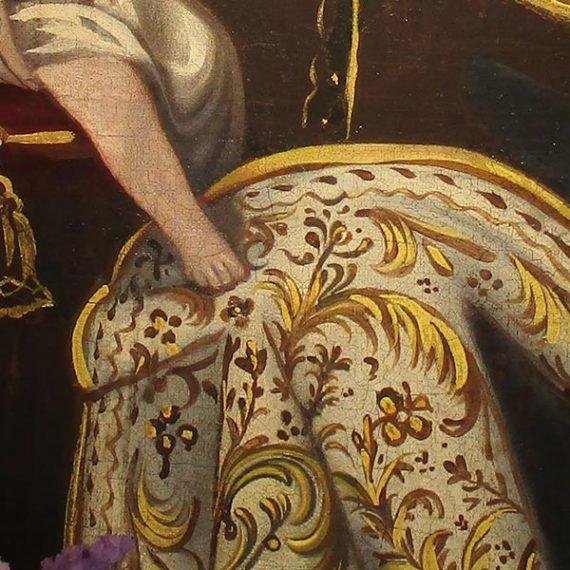 Pintura virgen del carmen.