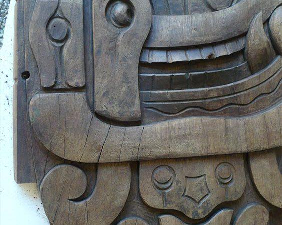 Detalle relieve Maya Yucatán.