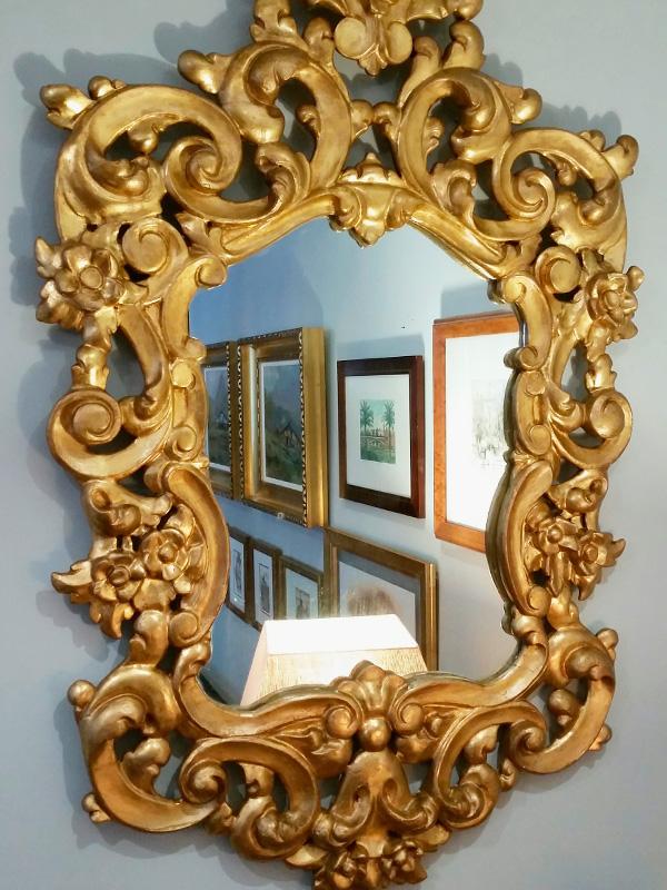 Estado final del espejo restaurado.