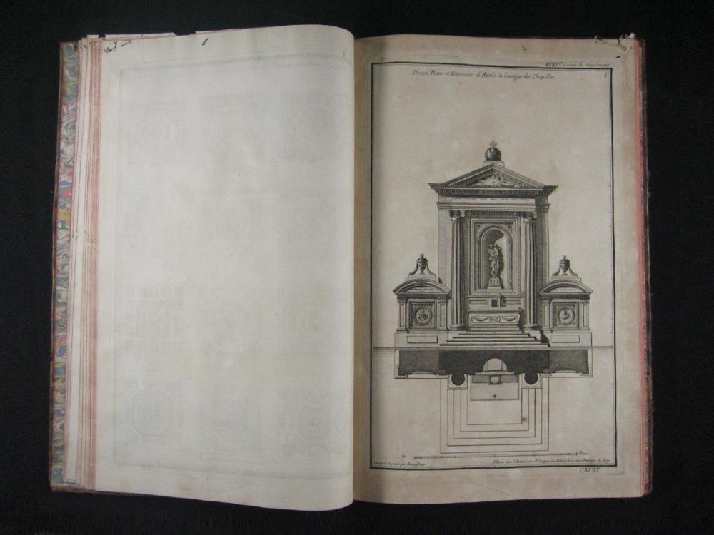 Libro de grabados, París 1768.