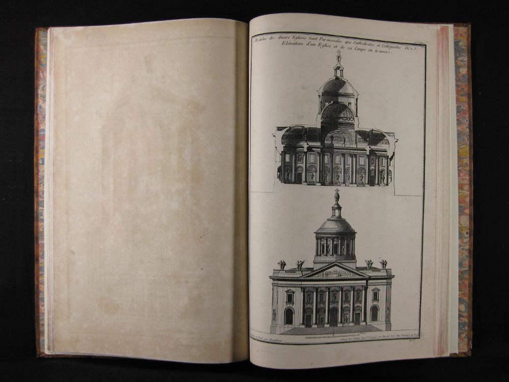 Libro de grabados restaurado, París 1768.